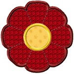 Simple Applique Flower Free Embroidery Design