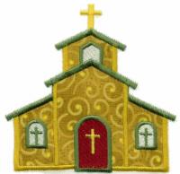 Applique Church Free Embroidery Design