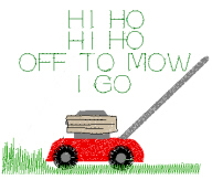 Mowing Saying Free Embroidery Design