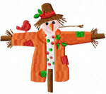 Arms Out Scarecrow Free Embroidery Design