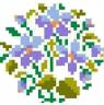 Cross Stitch Violet Round Free Embroidery Design