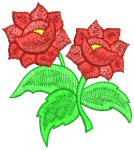 Double Roses Free Embroidery Design