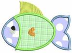 Applique Fish Free Embroidery Design