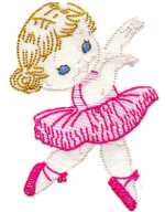 Ballerina Girl Free Embroidery Design