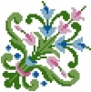 Decorative Cross Stitched Free Embroidery Design