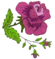 Rose with Two Buds Free Embroidery Design