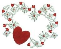 Snowflake Heart Free Embroidery Design