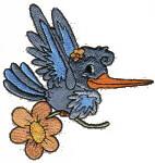 Hummingbird Free Embroidery Design