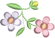 Baby's Breath Floral With Bud Free Embroidery Design