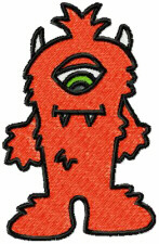 One Eyed Monster Free Embroidery Design