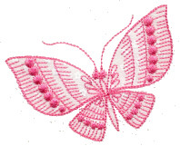 One Color Redwork Butterfly 2 Free Embroidery Design