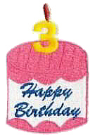 Birthday Cake Free Embroidery Design