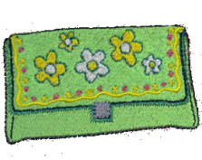 Wallet with Flowers  by Stitched Impressions