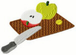 Fruit & Knife Free Embroidery Design