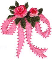 Bow with Roses Free Embroidery Design