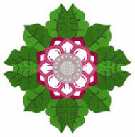 Decorative Circular Floral Free Embroidery Design