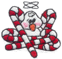 Duck with Candy Canes Free Embroidery Design
