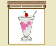 Ice Cream Sundae Free Embroidery Design