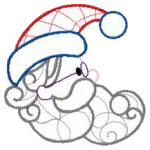 Santa Face Line Art   by Stitched Impressions