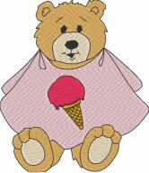 Bear in Bib Free Embroidery Design