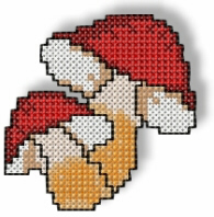 Cross Stitched Mushrooms Free Embroidery Design