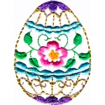 Decorated Easter Egg Free Embroidery Design