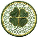 Shamrock Coaster Free Embroidery Design