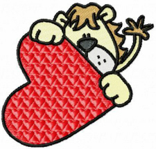 Lion & Heart Free Embroidery Design