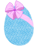 Easter Egg With Bow Free Embroidery Design
