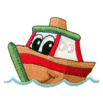Tuggy The Tugboat Free Embroidery Design