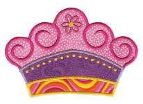 Applique Crown Free Embroidery Design