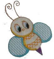 Cute Bee Free Embroidery Design