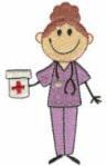 Stick Art Nurse or Doctor Free Embroidery Design