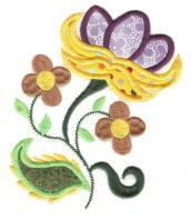 Applique Jacobean Flower Free Embroidery Design