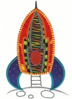 Applique Rocket Free Embroidery Design