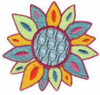 Colorful Flower Free Embroidery Design