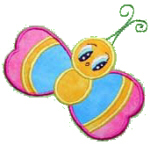 Cute Applique Butterfly Free Embroidery Design