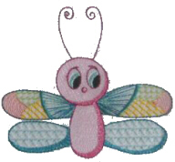 Cute Dragonfly Free Embroidery Design
