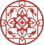 Medallion Scroll Free Embroidery Design