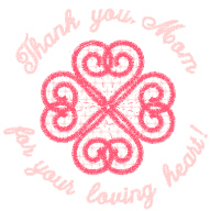 Mother's Day Phrase With Hearts Free Embroidery Design