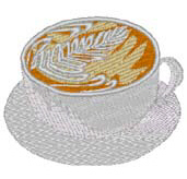 Cup of Coffee Free Embroidery Design