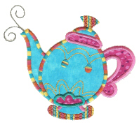 Applique Teapot Free Embroidery Design