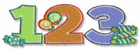 123 Numbers Free Embroidery Design
