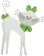 Swirly Cat Free Embroidery Design