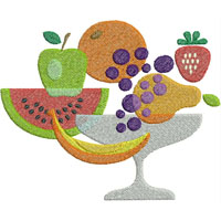 Lots of Fruit Free Embroidery Design
