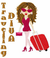 Travelling Diva Free Embroidery Design