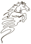 Horse Linework Free Embroidery Design