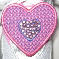 Heart Shoe Topper Free Embroidery Design