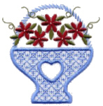Floral Basket Free Embroidery Design