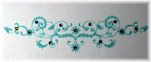 Decorative 5x7 Hoop Scroll by Stitched Impressions